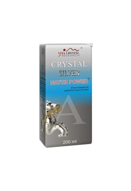 Crystal silver natur power étrend-kiegészítő ital 200 ml