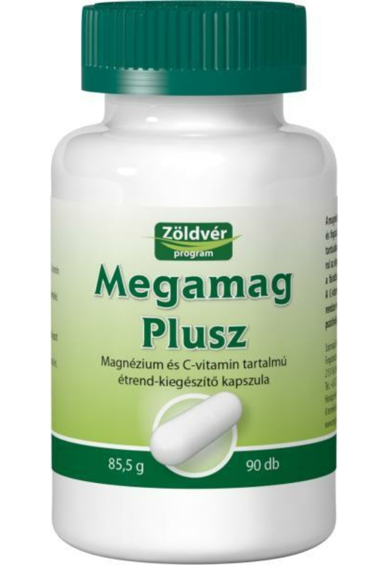 Zöldvér megamag plusz mg+c vitamin kapszula 90 db